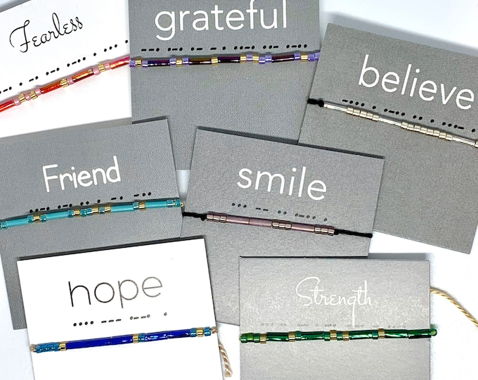 Words to Live By: Wish Bracelets - Smile, Hope, Dream, Fearless, Strength, Friend, Believe