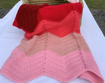 Pink Ombre Baby Blanket