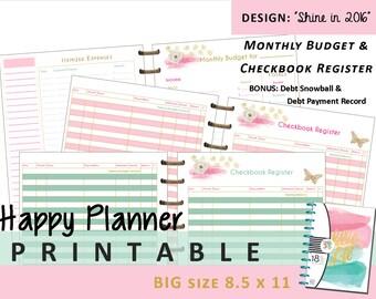 BIG Happy Planner PRINTABLE Weekly Planner Inserts ...