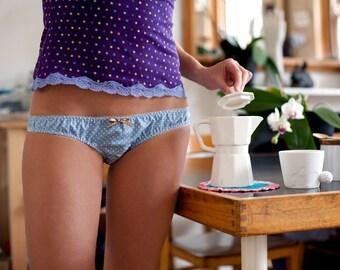 Lovely polka dots cotton panties