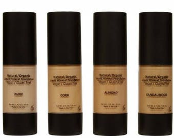 Organic Liquid Mineral Foundation with Skin Correcting Anti-Aging Ingredients!