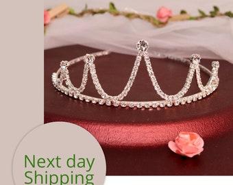 Wedding Tiara - Rhinestone Tiara - Sian Bridal Tiara with Bohemian Rhinestones - Bridal Hair - Wedding Jewelry