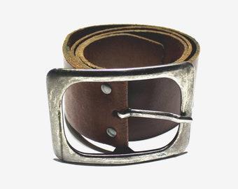 91562527f Vintage genuine leather belt brown leather belt mens leather belt tooled  leather belt wide leather belt cowboy leather belt embossed belt