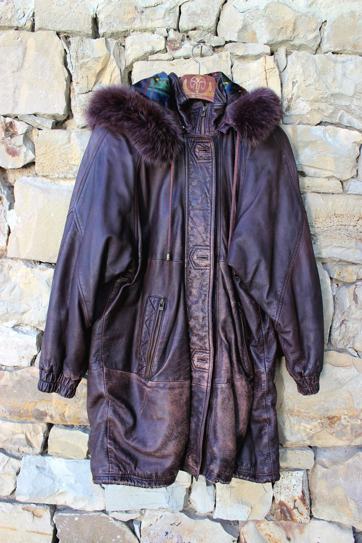 Giacca in pelle di donna inverno in pelle giacca Vintage con  9e93ab35430