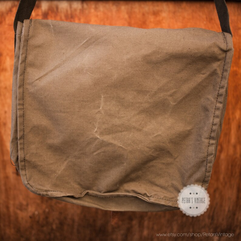 Monogrammed canvas bag monogram canvas bag messenger bag canvas messenger bag crossbody bag military bag army bag canvas backpack vintage
