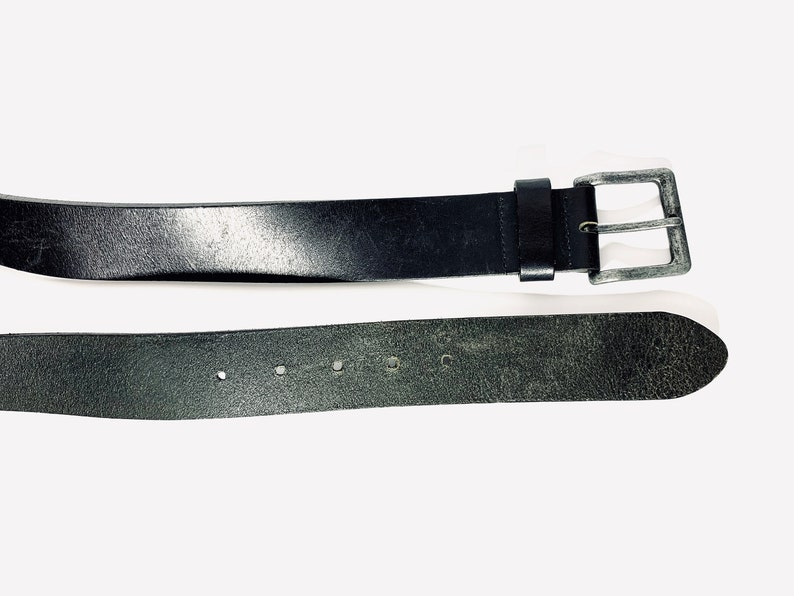 Vintage genuine leather belt black genuine leather belt mens leather belt  tooled leather belt wide leather belt cowboy leather belt