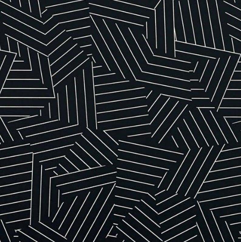Miles Redd For Schumacher Deconstructed Stripe Wallpaper Etsy