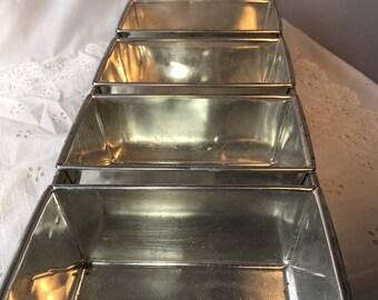 Industrial Green Metal Loaf Pan Industrial Bin