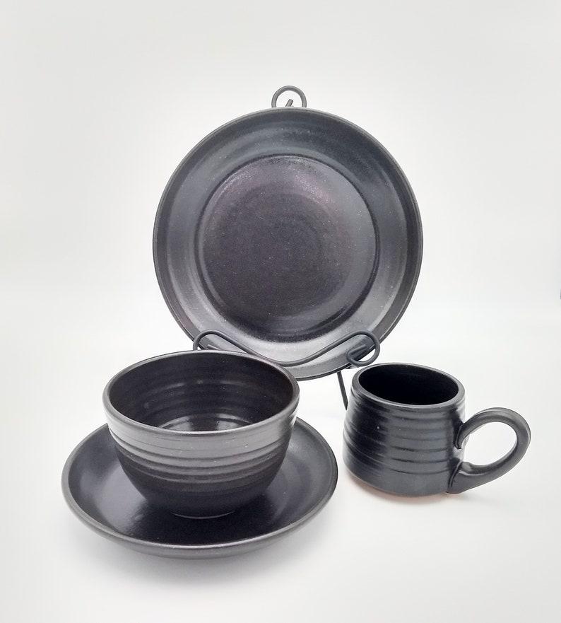 Espresso Handmade Pottery Dinner Plate