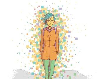 Left:  A Graphic Novel