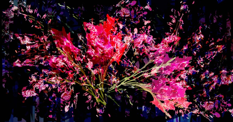 Fuschia Gladiolus Abstract Digital Download Printable Art image 0