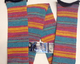 pre-made 64 stitch SPARKLE machine knitted SOCK TUBE ready to ship (24)