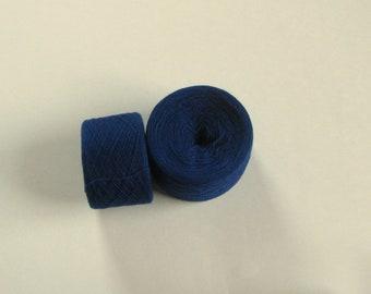 MIDNIGHT BLUE 100% Merino Wool 3596 yards recycled yarn