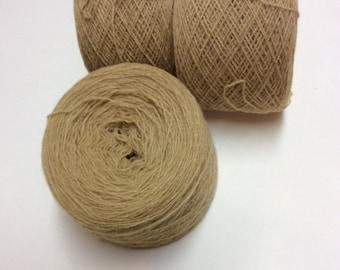 LIGHT BROWN lambswool 2156 yards recycled yarn