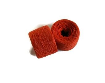 ROASTED PUMPKIN  Silk Cashmere blend 1675 yards recycled yarn