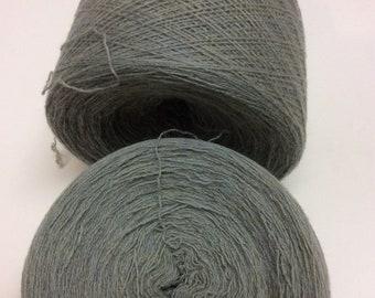 SEAFOAM MIST HEATHER 100% Cashmere 3830 yards recycled yarn