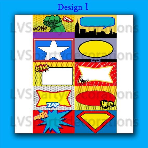 Superhero Place Cards Superhero Birthday Party Place Cards