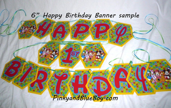 Diy Mickey Mouse Clubhouse Birthday Party Banner Disney World Etsy