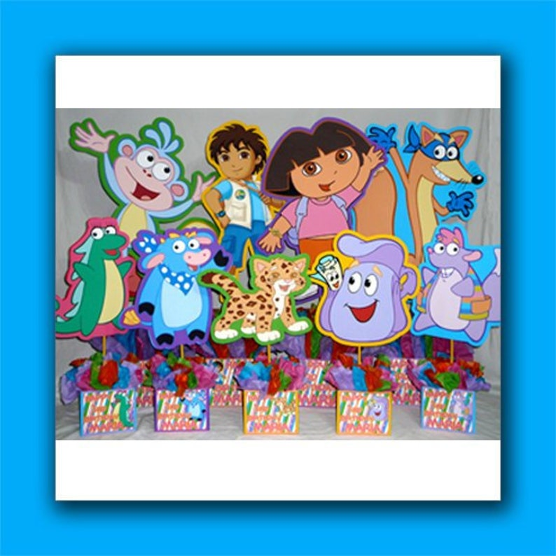 Diy Party Package For 9 Dora The Explorer Birthday Party Etsy