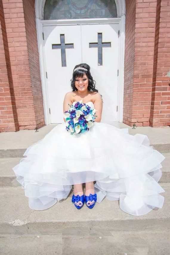 Molly S Bridal Bouquet With Turquoise Hydrangeas Blue Etsy