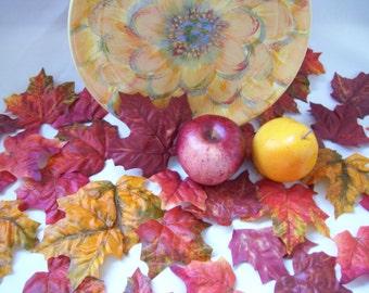 Brilliant Autumn Maple Fall Leaves Autumn Wedding Decor
