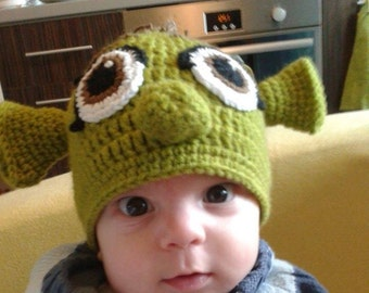 Christmas present Monster Hat Crochet Monster hat Shrek hat Baby hat Funny  hat Funny Shrek hat Animal hat Hat for a boy Christmas gift 54eaa3b7d53