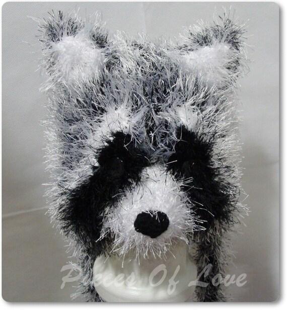 Waschbär Hut Tier Hut Geschenk für eine junge häkeln Waschbär | Etsy