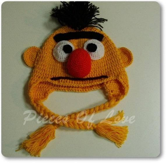 Muppet Hat Crochet Muppet Hat Halloween mask Bert And Ernie Present for a boy Sesame Street Accessories Bert Hat Ernie Hat Halloween present