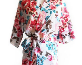 Pink Floral robe