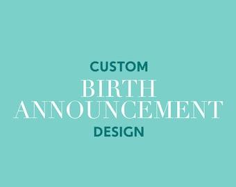 Custom Birth Announcements, Birth Announcement Cards, Newborn Announcements, Baby Announcements, Newborn Baby Girl, Newborn Baby Boy Cards