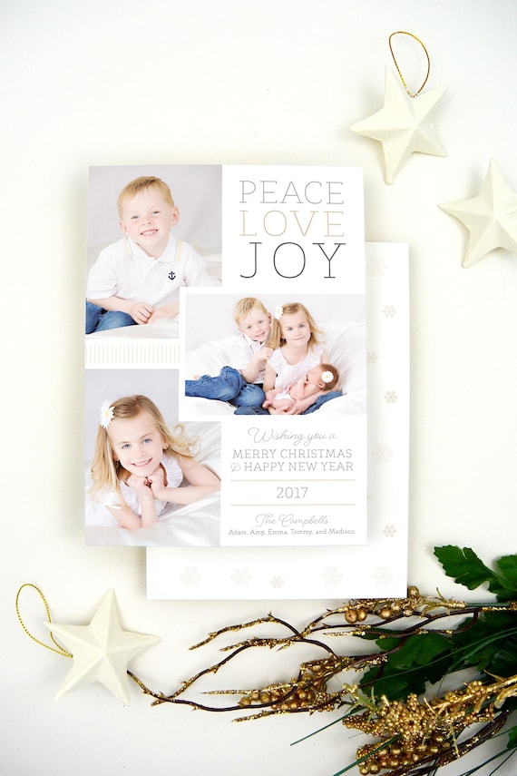 Printed Christmas Cards with Pictures White Christmas Cards | Etsy