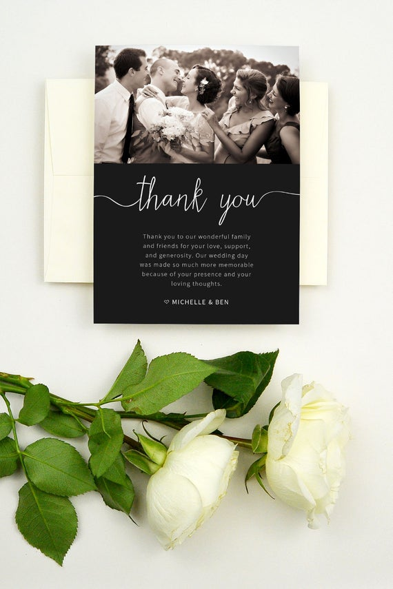 printable thank you cards for wedding thank you cards with etsy