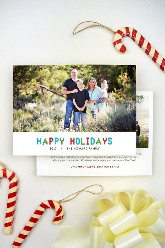 Christmas Cards with Pictures Printed Christmas Cards with   Etsy
