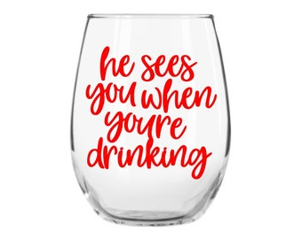 christmas wine glass funny wine glass holiday wine glasses trending now