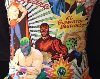 Lucha Libre Wrestlers Masks Cushion