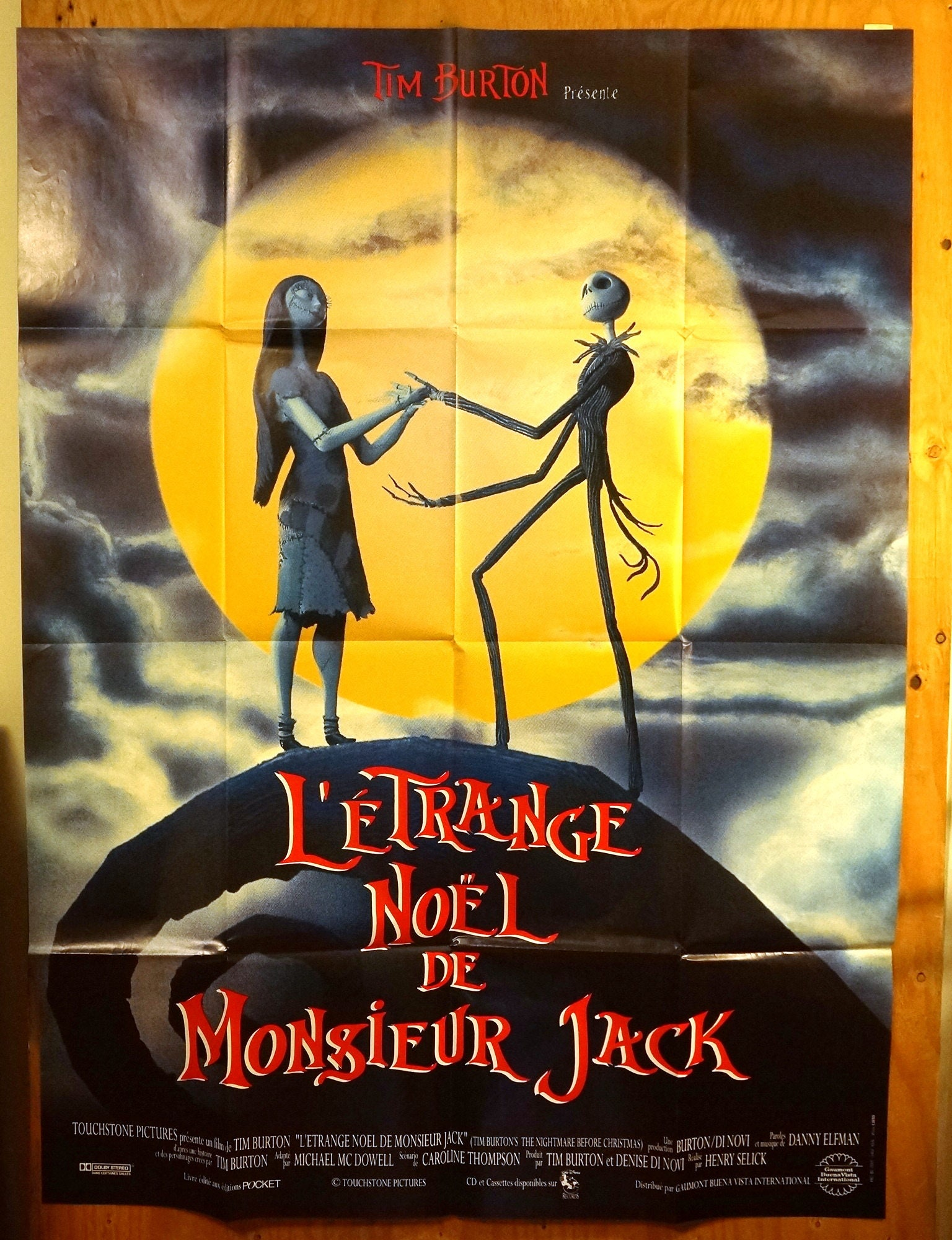 Nightmare Before Christmas French Subway Movie Poster