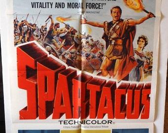Spartacus   Original Vintage  1961 Movie Poster One-Sheet - Kirk Douglas,  Laurence Olivier