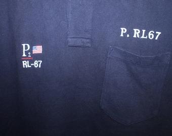 070418d29c3 Vintage Polo Ralph Lauren P2 RL-67 Shirt Stadium Sportsman Spell Out Ski P  Wing