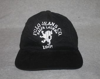 Vintage Polo Jeans Ralph Lauren Cap Hat Spell Out Stadium Sportsman 192c18adbf4a