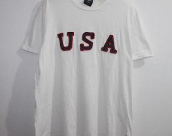 Vintage Polo Ralph Lauren USA Spell Out T-Shirt Stadium Ski Sportsman 28c6d0c329