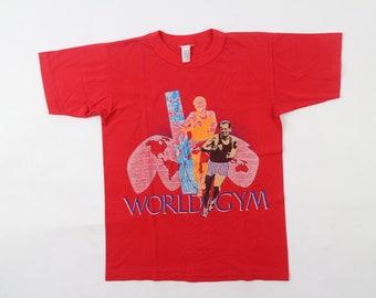 e33ec605e Vintage World Gym T-Shirt Run Olympic