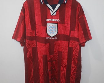 67865401690 Vintage England Umbro Away Football Shirt Jersey