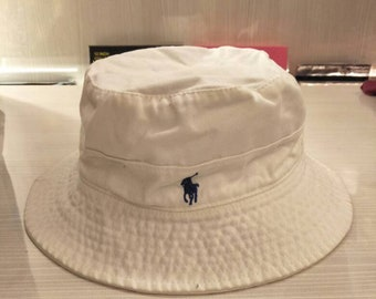 cdbe4158861 Vintage Polo Ralph Lauren Bucket Hat Sportsman Stadium P Wing Crest Ski Golf