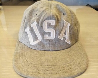 613bc5b35ef Vintage Polo Sport Ralph Lauren USA Spell Out Cap Hat Stadium Sportsman  Spell Out Ski