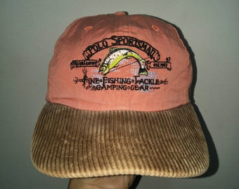 aaa58569e2b Vintage Polo Ralph Lauren Sportsman Cap Hat Hunting Golf Stadium Crest  Spell Out Script