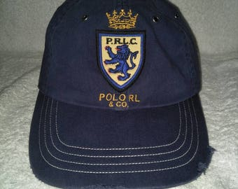 Vintage Polo Ralph Lauren PRLC Distressed Cap Hat Stadium Sportsman Spell  Out Ski Golf c234ce3acb2
