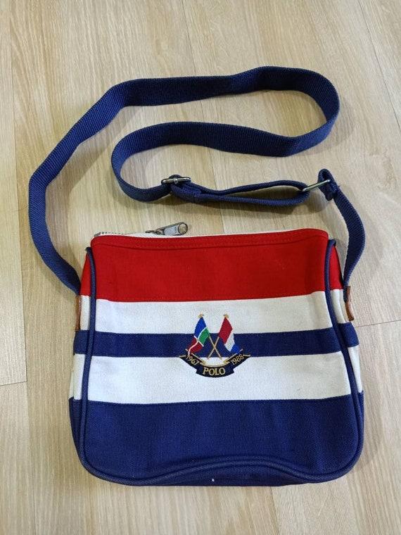Vintage Polo Ralph Cross Flag Cross body Bag Stadi