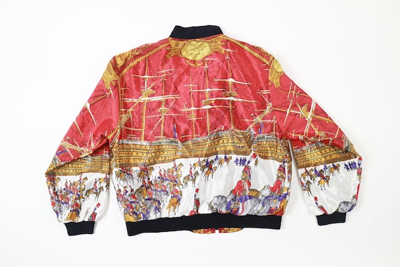 Vintage Baroque Marine Et Cavalerie Bomber Jacket