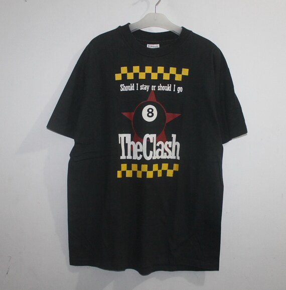 Vintage The Clash Should I Stay Or Should I Go T-S