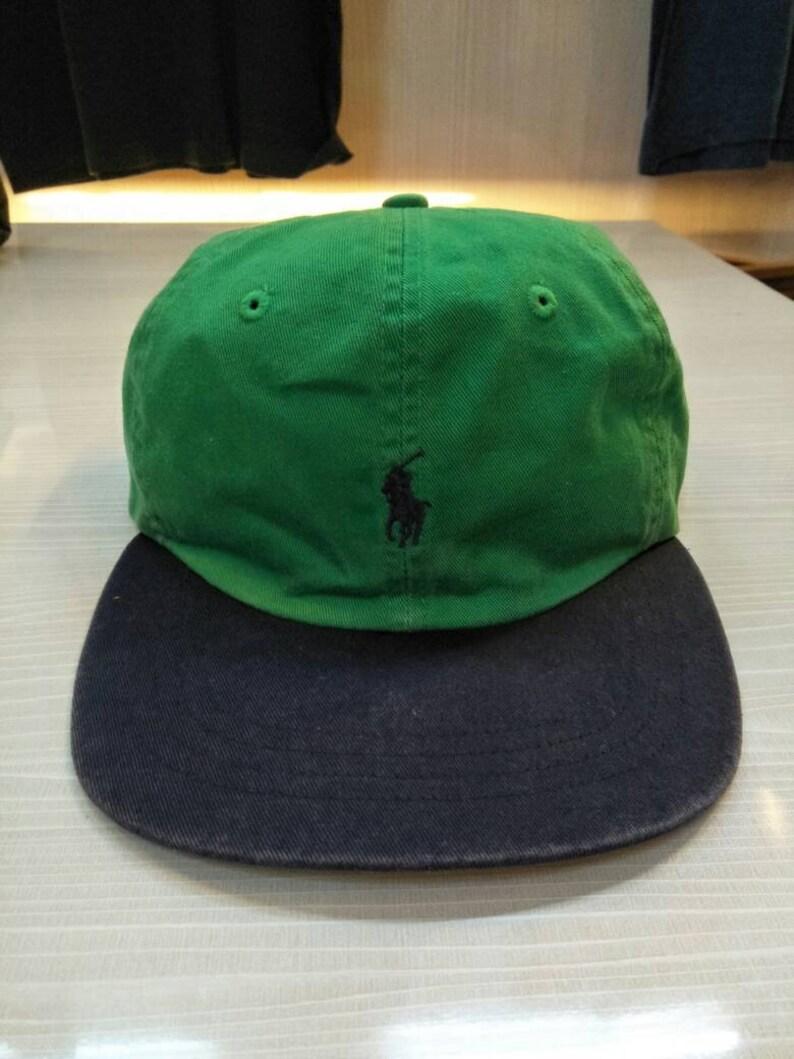 a99fef4b Vintage Polo Ralph Lauren Pony Cap Hat 2 Tone Sportsman   Etsy
